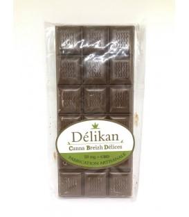 Chocolat au lait CBD Délikan