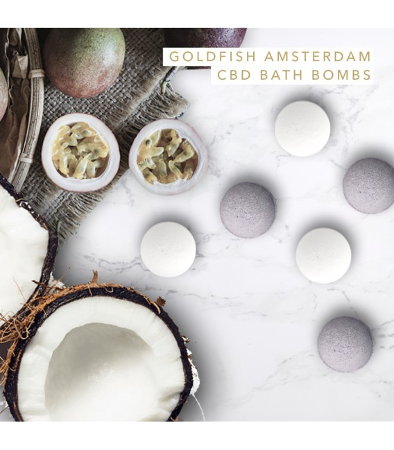 Goldfish Amsterdam CBD Heart Shaped Bath Bombs