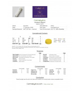 Goldfish Amsterdam 5% CBD  Saffron & MCT Oil
